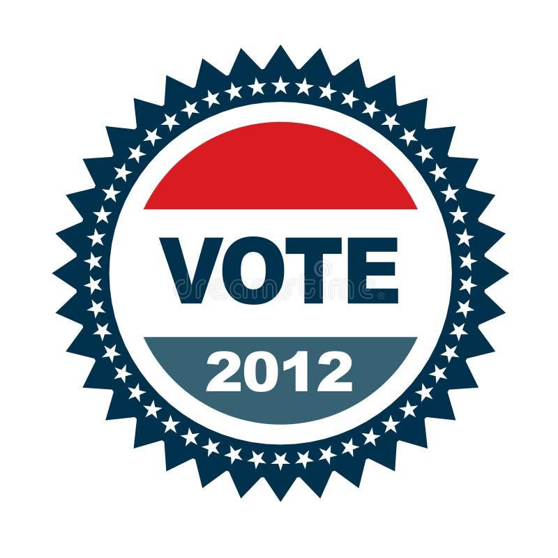 Vote 2012 badge. With 50 stars stock illustration