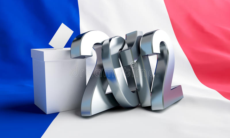 Vote 2012 france. On the background of the flag stock illustration