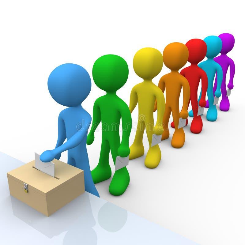 Vote illustration libre de droits