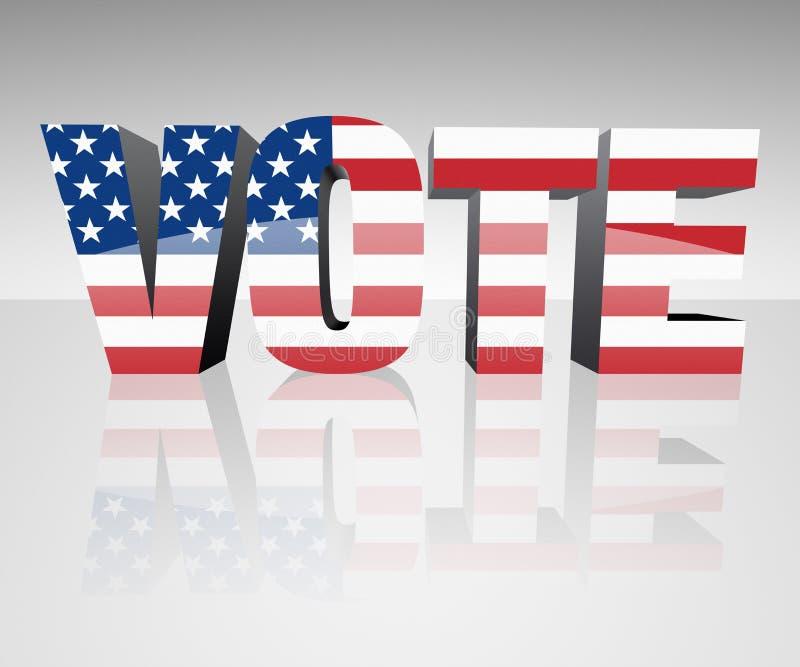 Download VOTE stock illustration. Image of politics, white, vote - 24897655