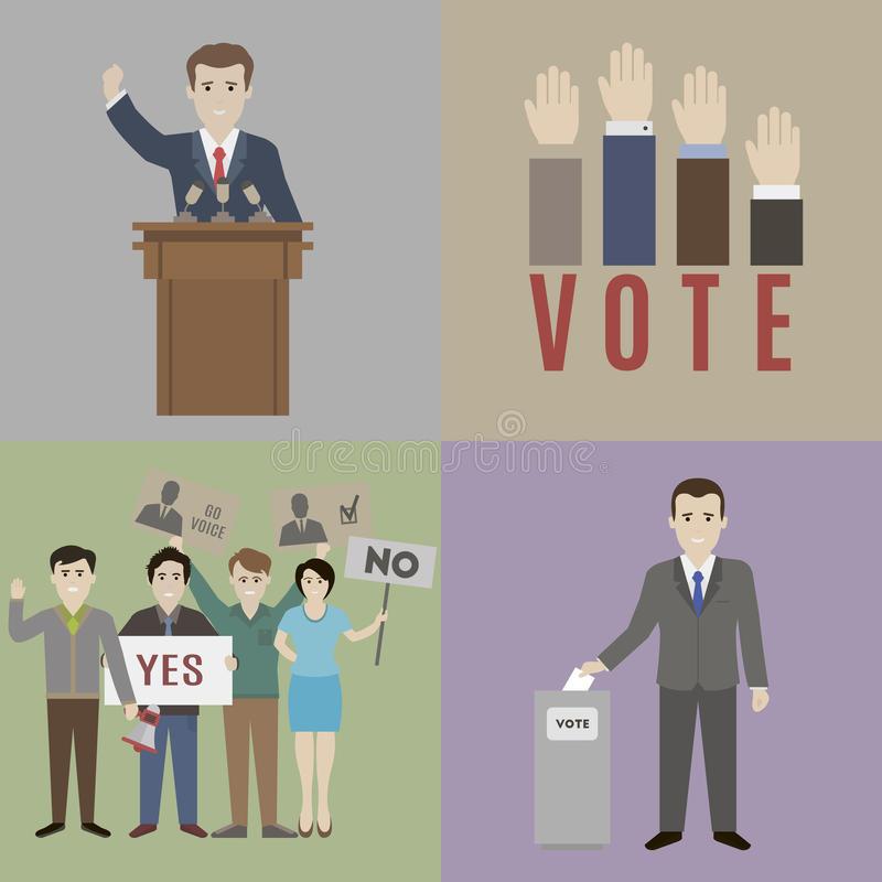 Vote illustration stock