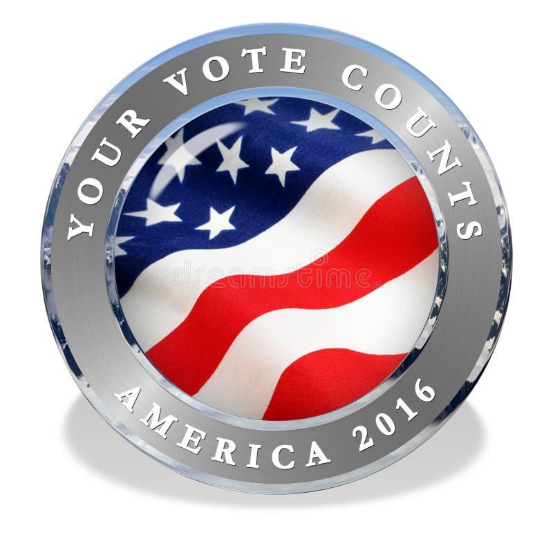 Vote 2016 America. 2016 America Vote Icon Seal USA vector illustration