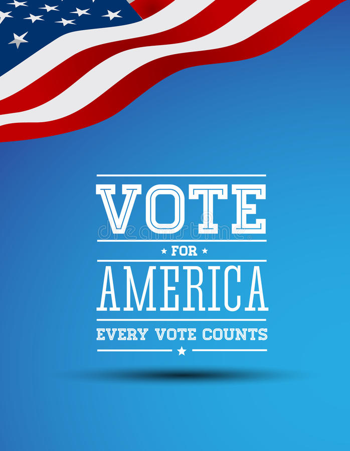 Download Vote For America Vintage Poster Stock Vector - Image: 26658526