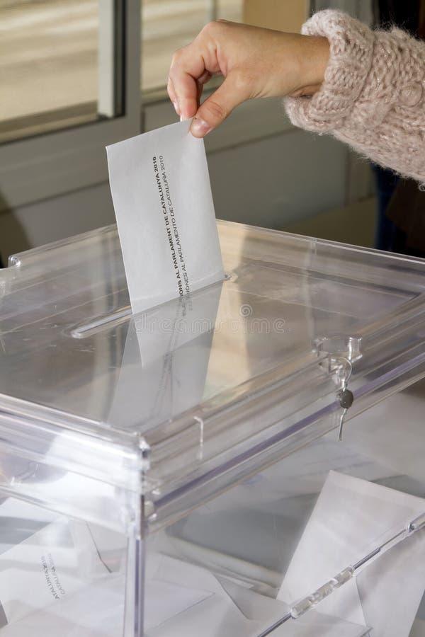 Vote aux élections photos libres de droits