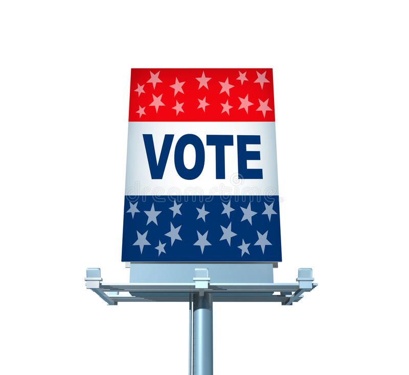 Download Vote Billboard stock illustration. Image of isolated - 26592568