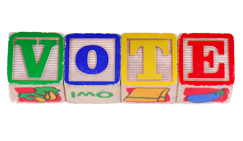 Vote in Blocks stock photo