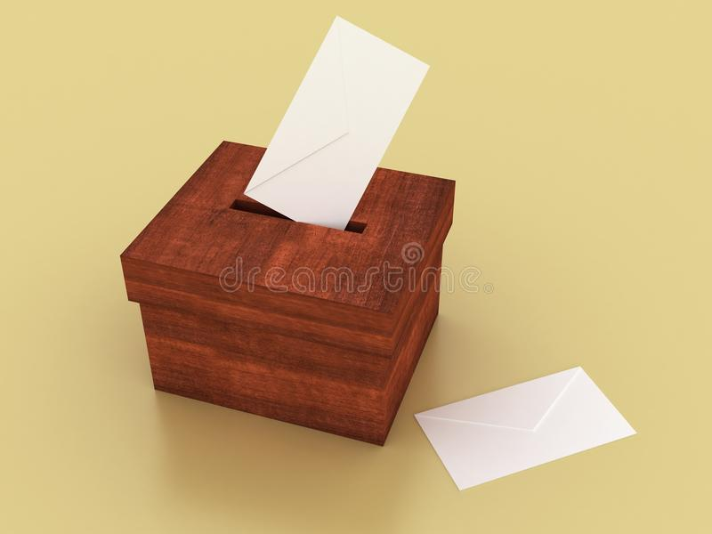 Vote box. With envelope (high. res royalty free illustration