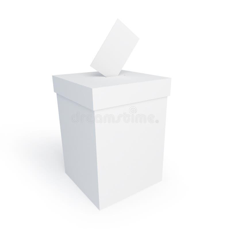 Vote box form. On a white background stock illustration