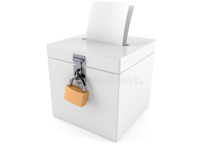 Vote box vector illustration