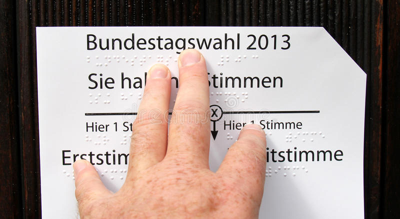 Download Vote stock image. Image of blind, casting, card, bsvw - 33326065