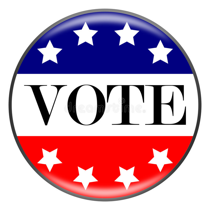 Download Vote Button stock illustration. Image of referendum, badge - 6777313