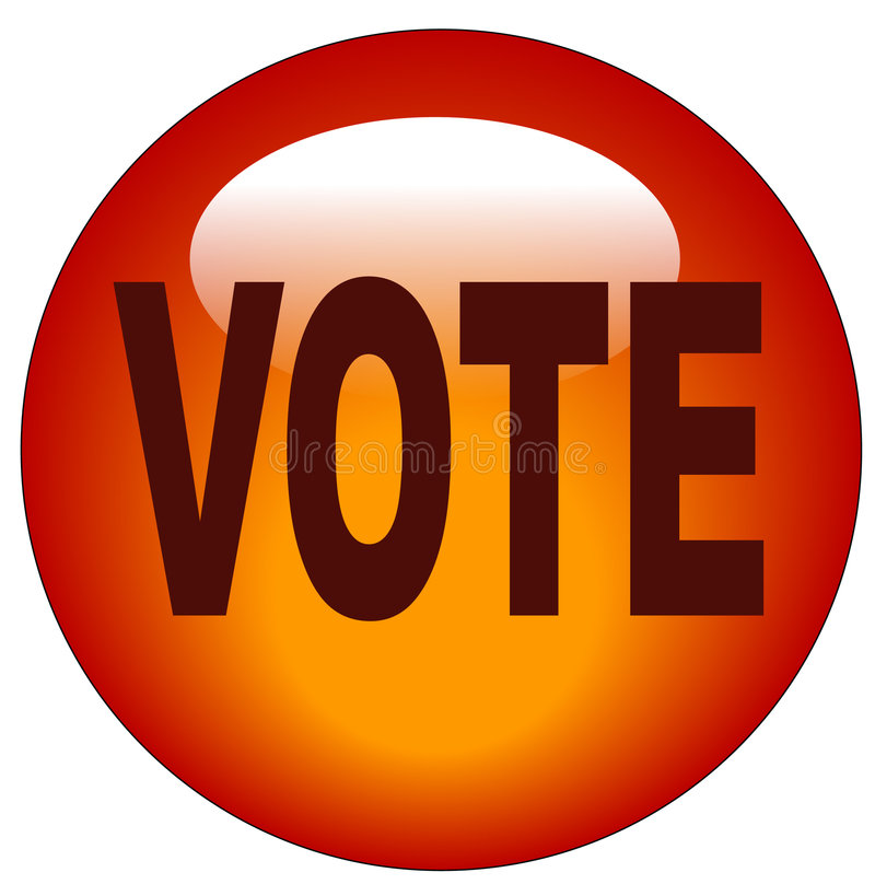 Vote button or icon royalty free illustration