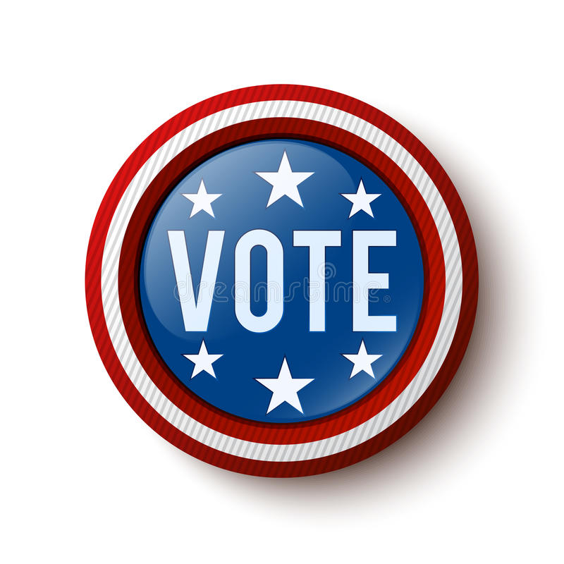 Vote button. United States Election. Vector illustration royalty free illustration