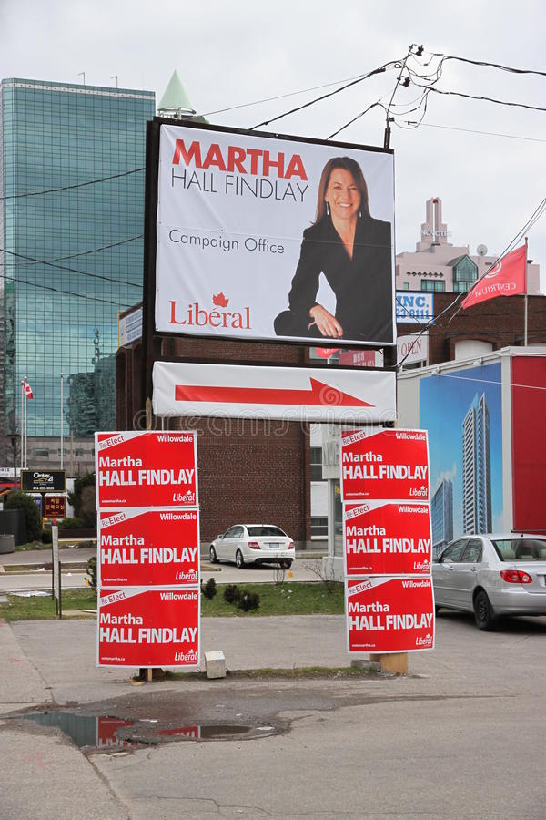 Vote Canada. Liberal party candidate in Toronto for the next Canadian federal elections of May 2nd 2011 royalty free stock image