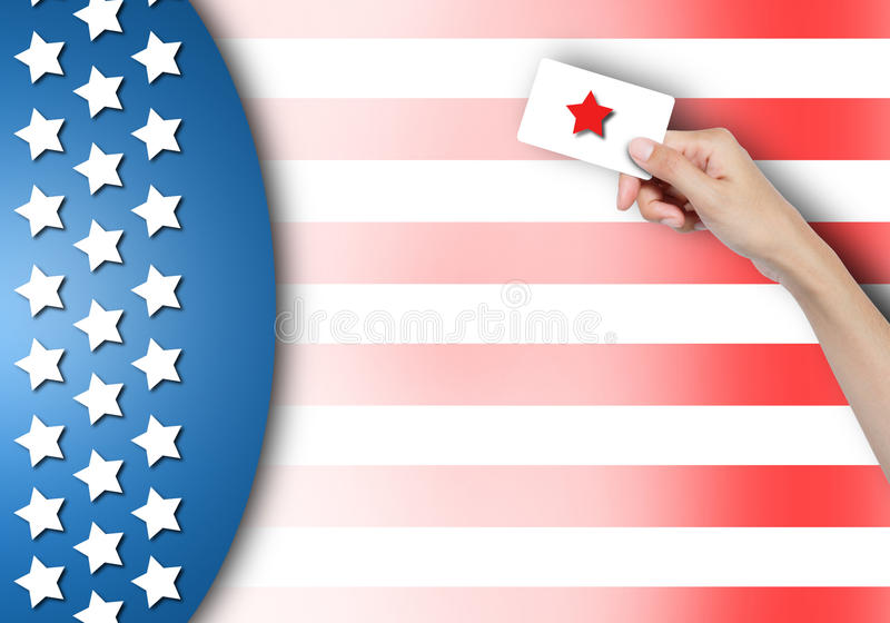 Vote card in hand. royalty free stock photos