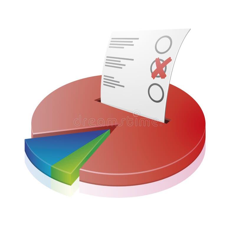 Vote chart vector illustration