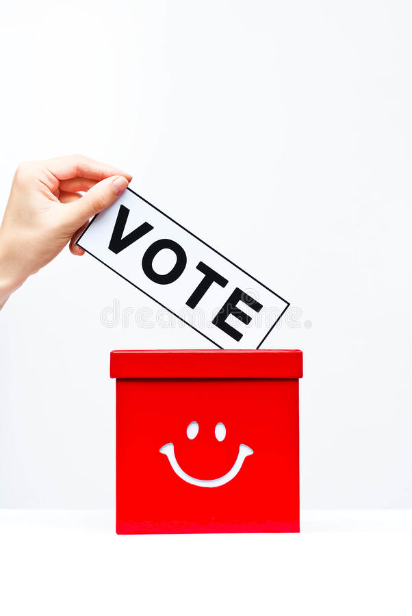 Vote. Concept with ballot box royalty free stock photos