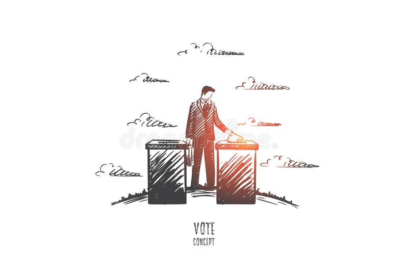 Vote concept. Hand drawn isolated vector. vector illustration