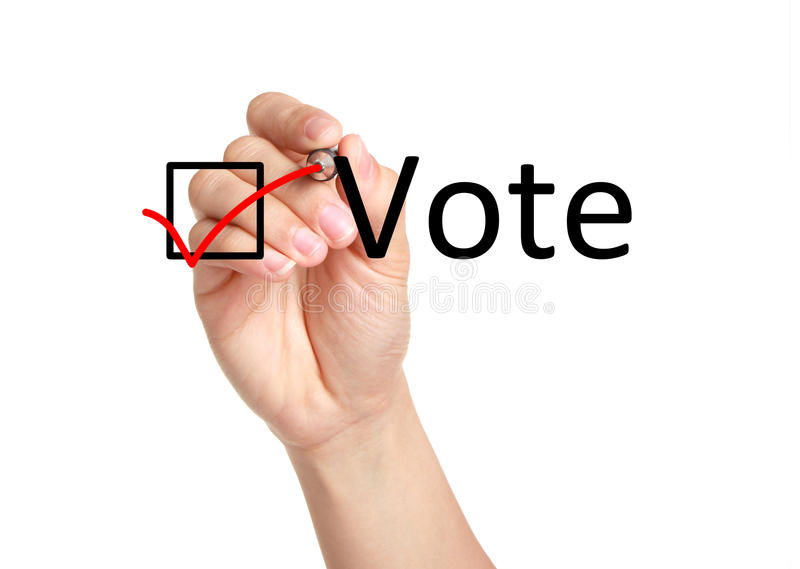 Vote concept. Isolated on white background royalty free stock image
