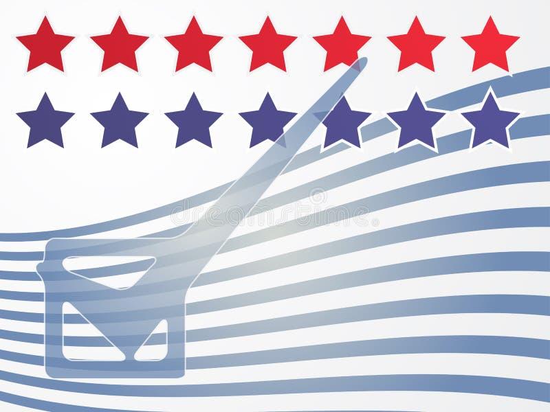 Vote d'élection des Etats-Unis illustration stock