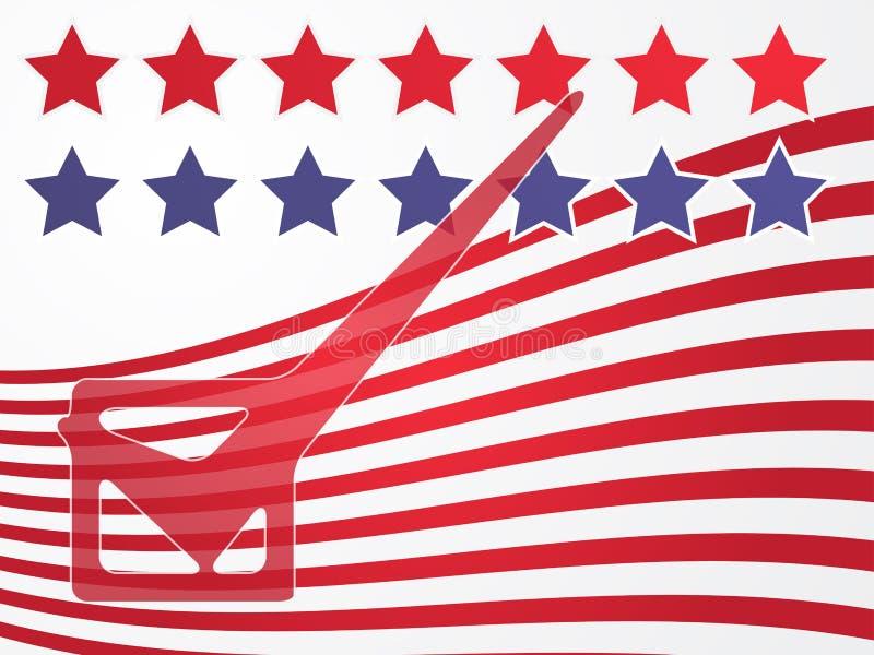 Vote d'élection des Etats-Unis illustration libre de droits