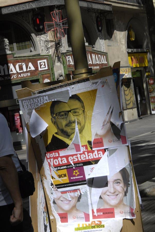 VOTE DE CONSEIL DE BARCELONE photographie stock libre de droits