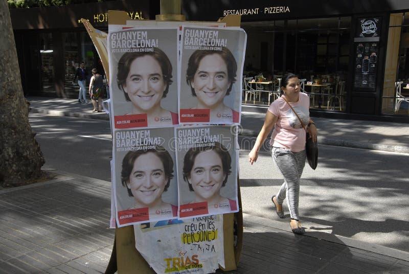 VOTE DE CONSEIL DE BARCELONE image stock