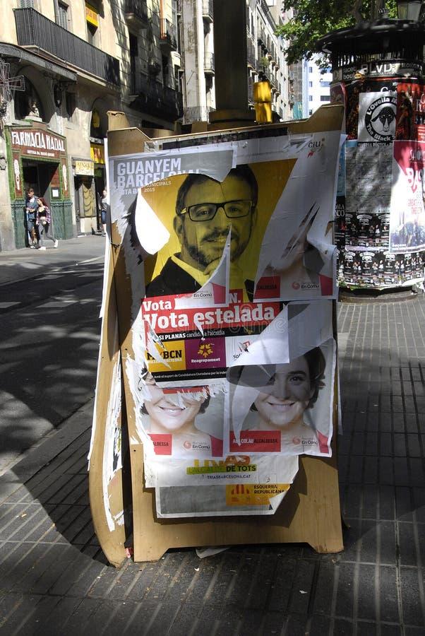 VOTE DE CONSEIL DE BARCELONE image libre de droits