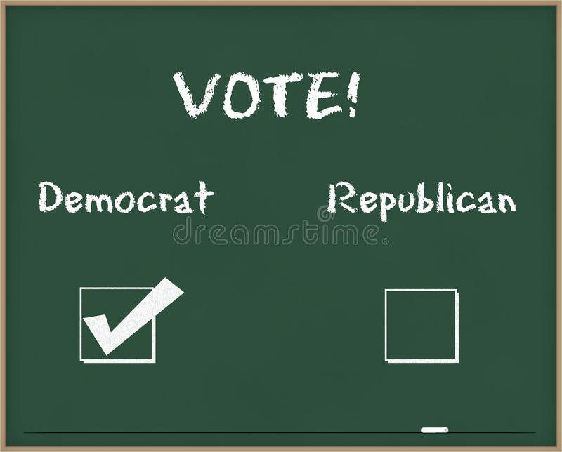 Vote Democrat royalty free stock images