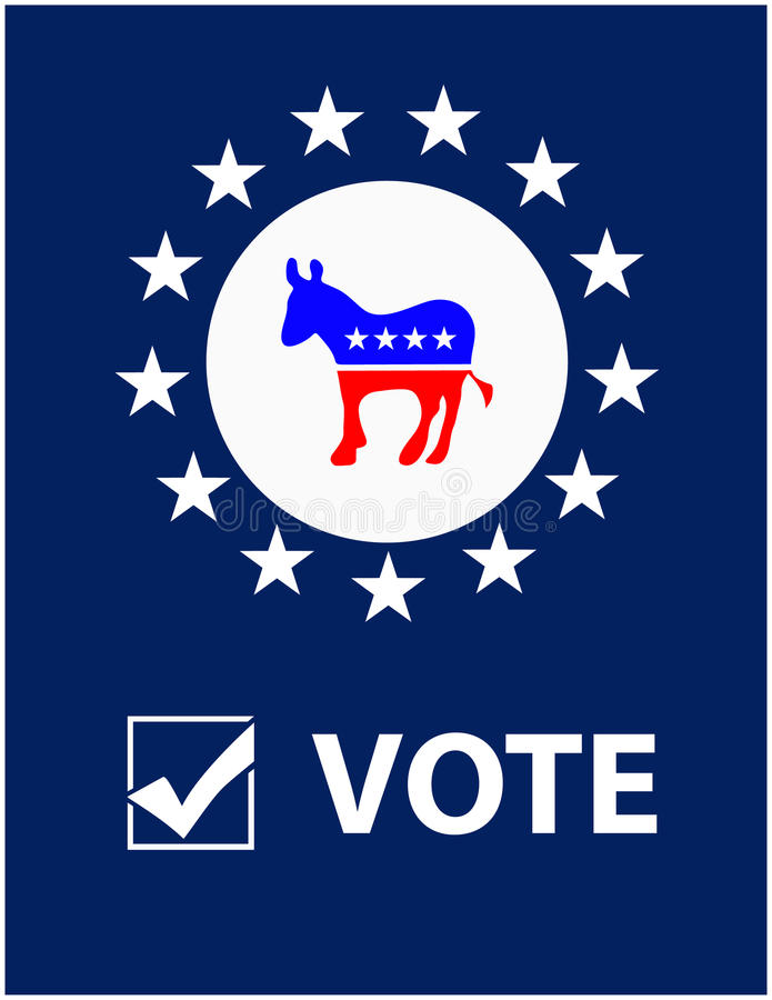 Download Vote Democrat Placard editorial stock image. Illustration of american - 26600474