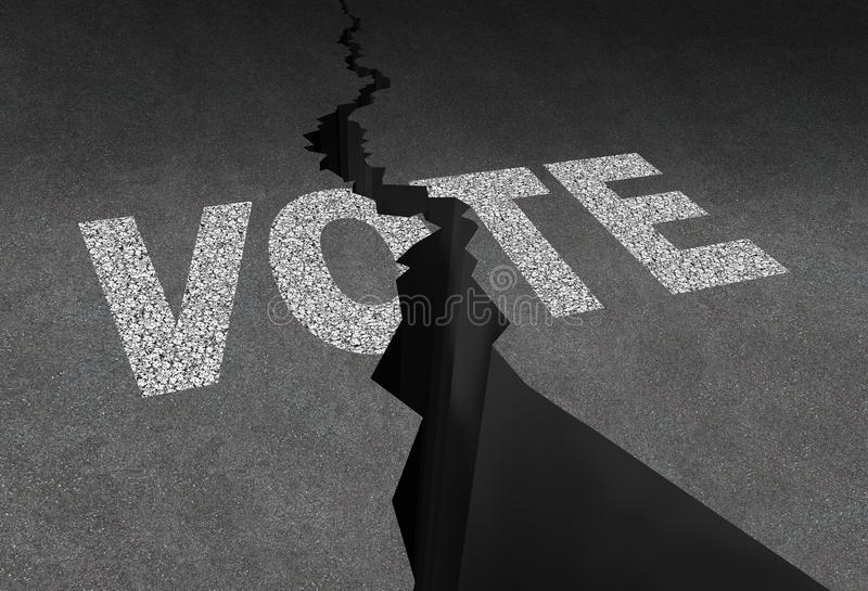 Vote divisé illustration stock