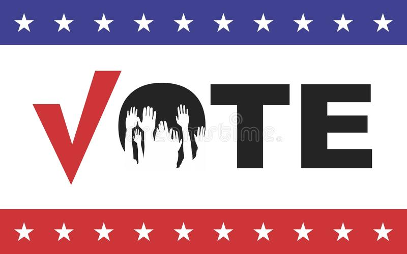 Vote. Election day campaign vote. Your vote counts. Vector format