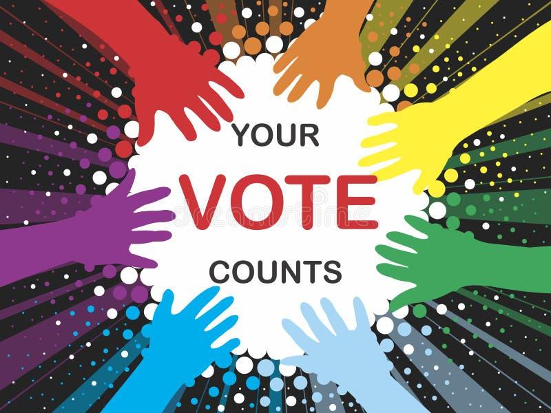 Vote vector illustration
