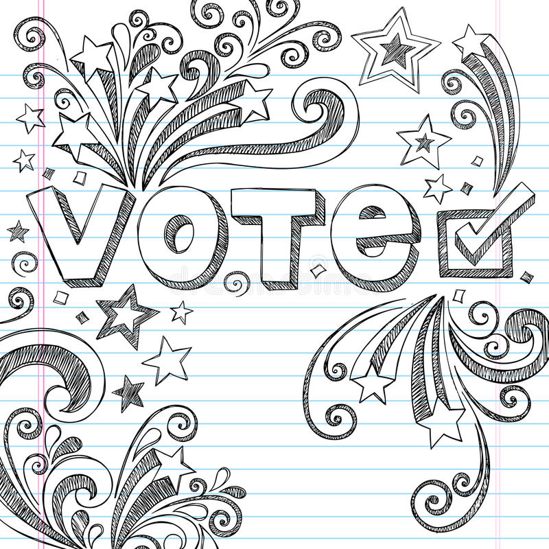 Free Vote Election Sketchy School Doodles Vector Illust Stock Image - 27039401