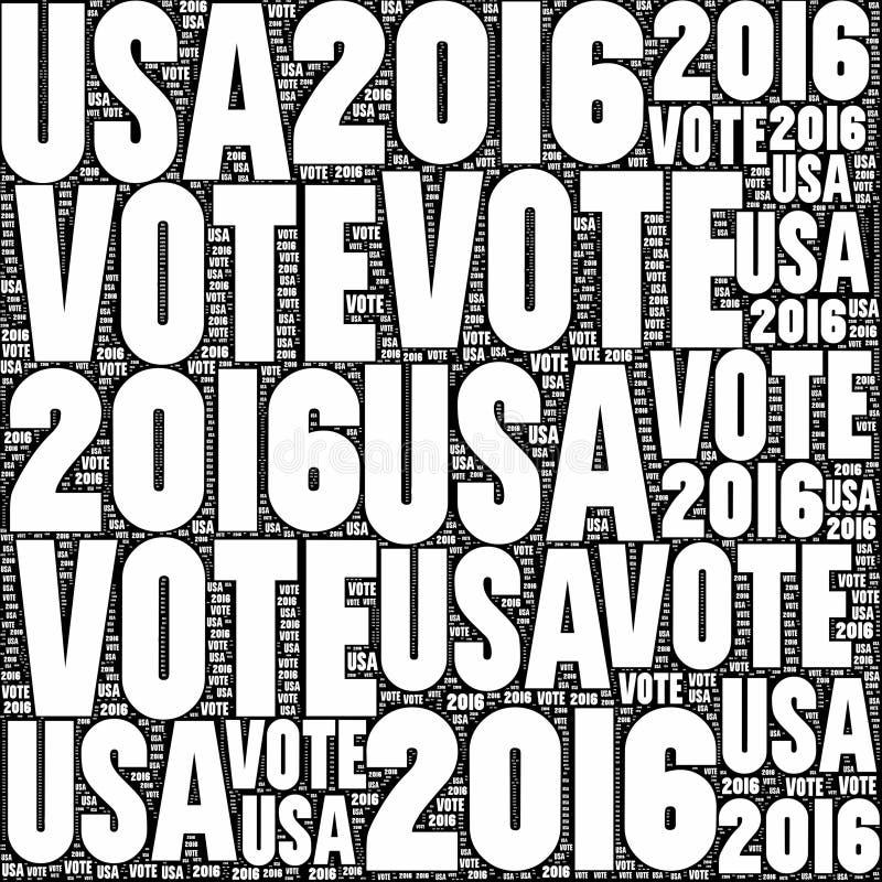 Vote Etats-Unis 2016 illustration libre de droits