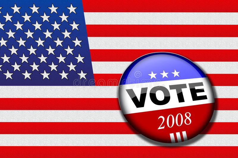 Vote Flag Royalty Free Stock Image