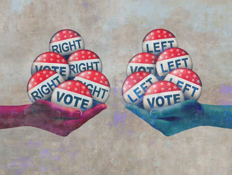 Vote gauche et droit illustration libre de droits