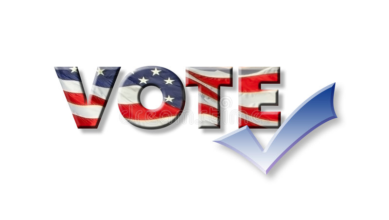 Vote Graphic with Checkmark stock illustration