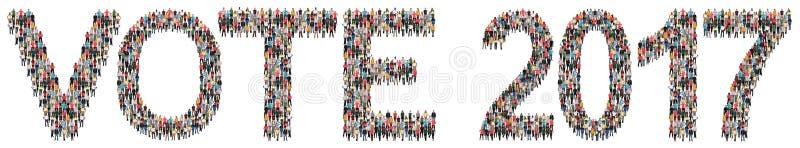 Vote grupo étnico da política das eleições 2017 da eleição o multi de peop fotos de stock