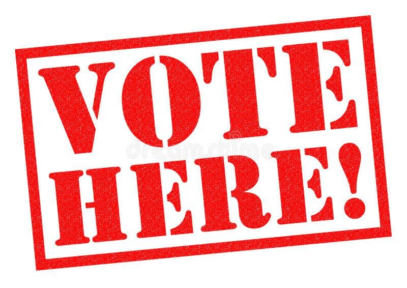 VOTE ICI ! illustration libre de droits