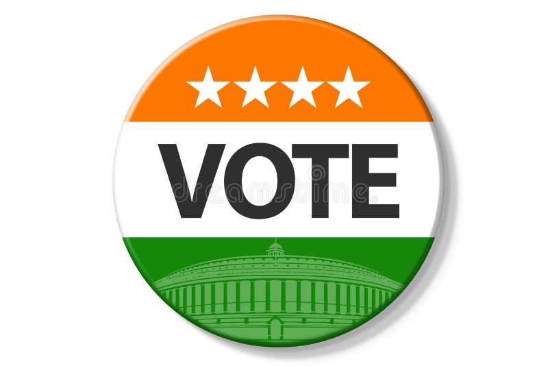 India elections. Vote iIndia on badge on white background stock illustration