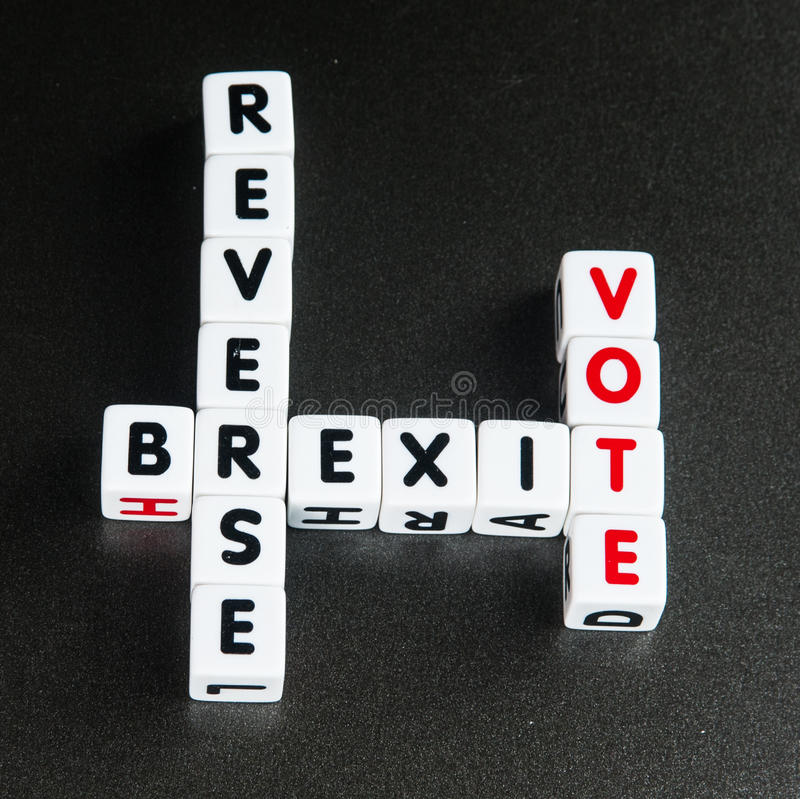 Vote inverse de Brexit photographie stock