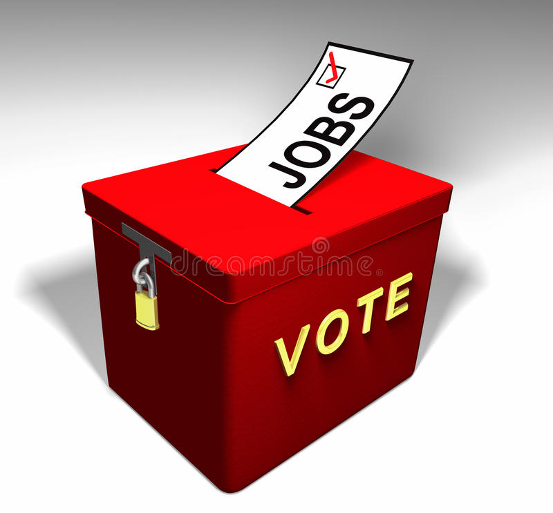 Download Vote Jobs A stock illustration. Image of income, employment - 27153691