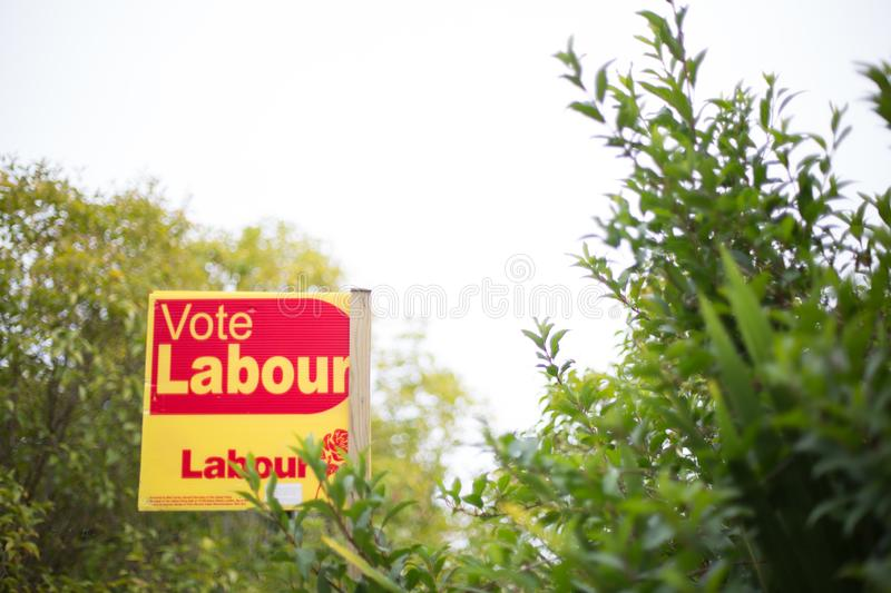 A Vote Labour Party Sign background on white background royalty free stock images