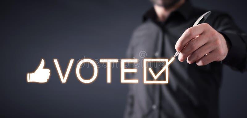 Vote ?lection Heure de voter photographie stock libre de droits