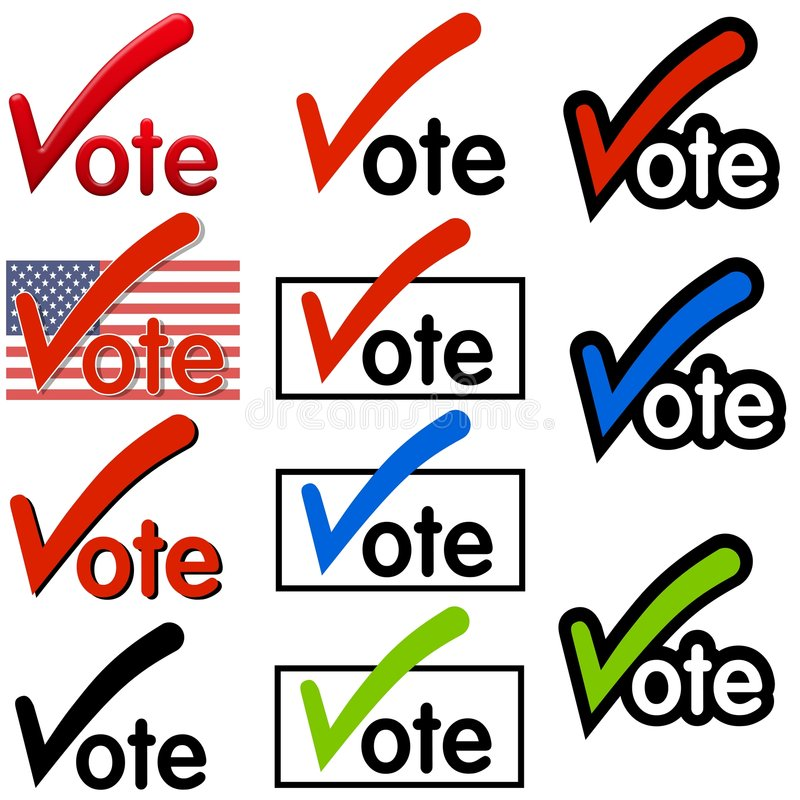 Vote Logos or Clip Art vector illustration