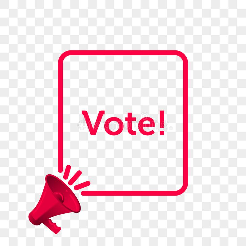Vote message quote megaphone vector icon stock illustration