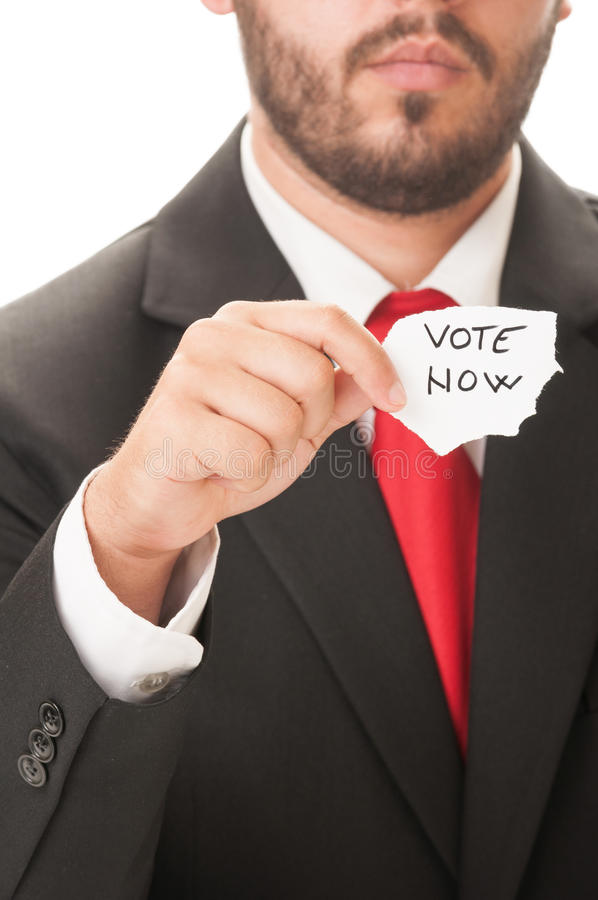 Vote Now concept royalty free stock image