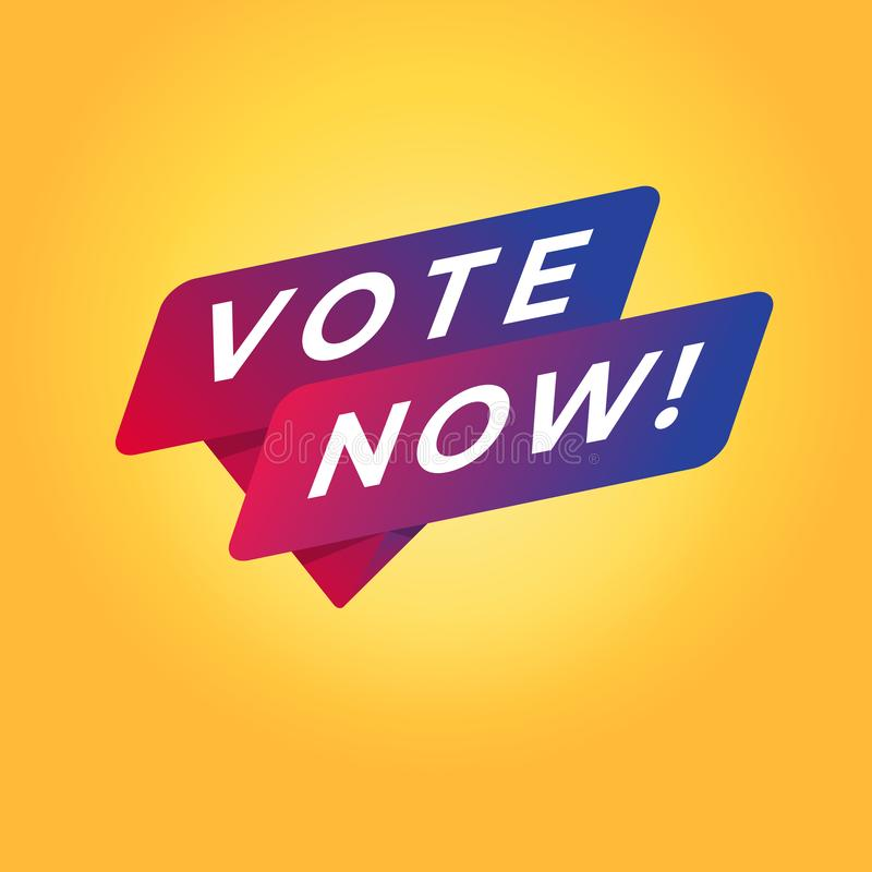 Vote now tag sign. Vector illustration vector illustration