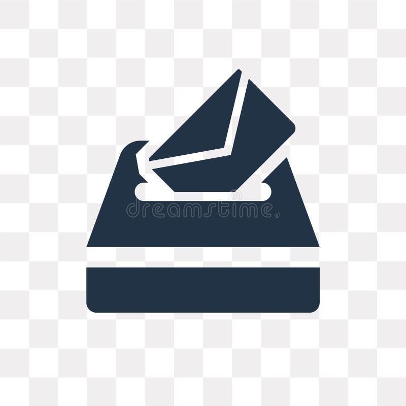 Vote o ícone do vetor isolado no fundo transparente, transporte do voto ilustração royalty free